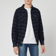 Superdry Men's Buffalo Flannel Long Sleeve Shirt - Blue Check