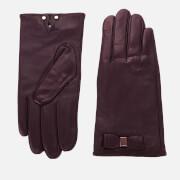 Ted Baker Women's Bblake Bow Gloves - Oxblood