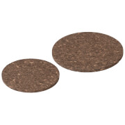 Broste Copenhagen Bill Cork Coaster - Dark Natural (Set of 2)