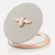 Olivia Burton Women's 3D Bee Compact Mirror - Grey/Rose Gold
