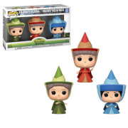 Disney Sleeping Beauty Fauna, Flora and Merryweather ECCC 2020 EXC Pop! Vinyl Figure 3-Pack