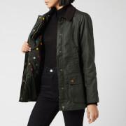 Barbour Women's Emma Bridgewater Eleanor Waxed Jacket - Duffle Bag/Spot