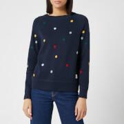 Barbour X Emma Bridgewater Women's Spot Knitted Jumper - Navy