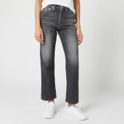 Calvin Klein Jeans Women's High Rise Straight Ankle Jeans - Black