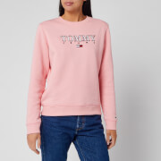 Tommy Jeans Women's Essential Logo Sweatshirt - Pink Icing