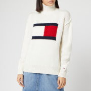Tommy Jeans Women's Tommy Flag Jumper - Snow White