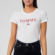 Tommy Jeans Women's Essential Slim Logo T-Shirt - Classic White