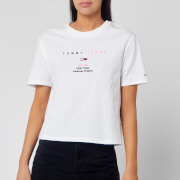 Tommy Jeans Women's Small Logo Text T-Shirt - Classic White