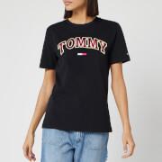 Tommy Jeans Women's Neon Collegiate T-Shirt - Tommy Black