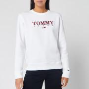 Tommy Jeans Women's Essential Logo Sweatshirt - Classic White
