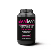 IdealLean Cranberry 500mg + Vitamin C & E Softgels