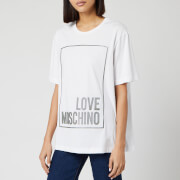 Love Moschino Women's Logo Box T-Shirt - White
