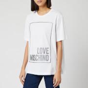 Love Moschino Women's Logo Box T-Shirt - White