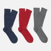 BOSS Hugo Boss Men's 3 Pack Gift Set - Navy/Grey/Red