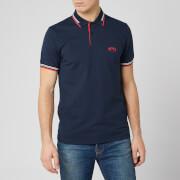 BOSS Men's Paul Curved Polo Shirt - Navy