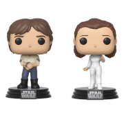 Star Wars Empire Strikes Back Han and Leia Funko Pop! Vinyl 2-Pack