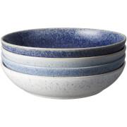 Denby Studio Blue 4 Piece Pasta Bowl Set