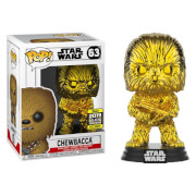 Star Wars Gold Chrome Chewbacca EXC Pop! Vinyl Figure