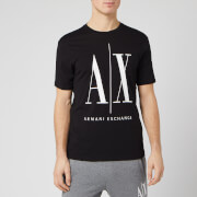 Armani Exchange Men's Large Ax Logo T-Shirt - Black