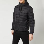 Armani Exchange Men's Padded Hooded Jacket - Black/Grey