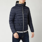 Armani Exchange Men's Padded Hooded Jacket - Navy/Melange Grey