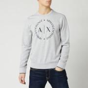 Armani Exchange Men's Circle Logo Sweatshirt - Grey