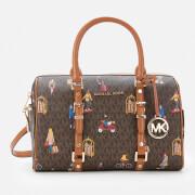 MICHAEL MICHAEL KORS Women's Bedford Travel Medium Duffle Satchel - Brown Multi