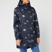 Joules Women's Golightly Printed Waterproof Packaway Jacket - May Day Dogs
