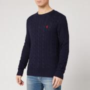 Polo Ralph Lauren Men's Cable Knit Cotton Jumper - Hunter Navy
