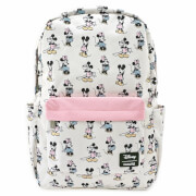 Loungefly Pastel Minnie Mickey AOP Nylon Backpack