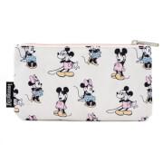 Loungefly Pastel Minnie Mickey AOP Nylon Pouch