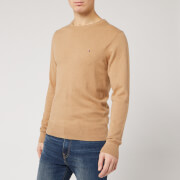 Tommy Hilfiger Men's Luxury Touch Knitted Crew Neck Jumper - Classic Khaki