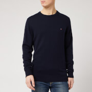 Tommy Hilfiger Men's Luxury Touch Knitted Crew Neck Jumper - Desert Sky