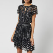 MICHAEL MICHAEL KORS Women's Lux Metal Lace Dress - Black/Silver