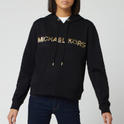 MICHAEL MICHAEL KORS Women's Trim Sweatshirt Hoodie - Black