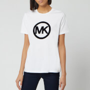 MICHAEL MICHAEL KORS Women's Circle Logo Flock T-Shirt - White