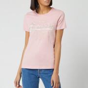 Superdry Women's Premium Goods Luxe Short Sleeve T-Shirt - Pink Nectar