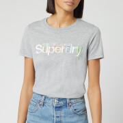 Superdry Women's Classic Rainbow Short Sleeve T-Shirt - Grey Marl