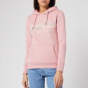 Superdry Women's Premium Goods Luxe Hoodie - Pink Nectar