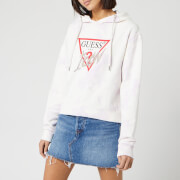 Guess Women's Icon Fleece Embellished Hoody - Cloudy Spring Lilac