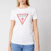Guess Women's Basic Triange Short Sleeve T-Shirt - True White