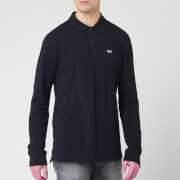 Tommy Jeans Men's Long Sleeved Polo Shirt - Tommy Black