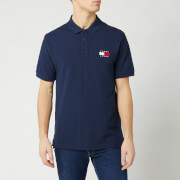 Tommy Jeans Men's Tommy Badge Polo Shirt - Black Iris