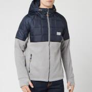 Superdry Men's Polar Fleece Hybrid Jacket - Grey Marl