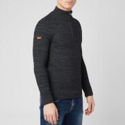 Superdry Men's Keystone Henley Knit Jumper - Lead Grey Twist