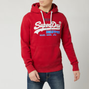 Superdry Men's Vintage Label Desert Hoody - Chilli Pepper