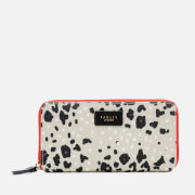 Radley Women's Leopard Oilskin Large Zip Around Matinee Purse - Aluminium