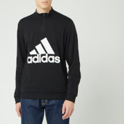 adidas Men's MH BOS 1/4 Zip Sweater - Black