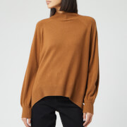 Whistles Women's Funnel Neck Cashmere Knitted Jumper - Toffee