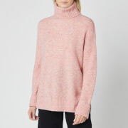 Whistles Women's Oversized Roll Neck Knitted Jumper - Pale Pink